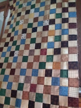 Use fabric scraps for quilt backs